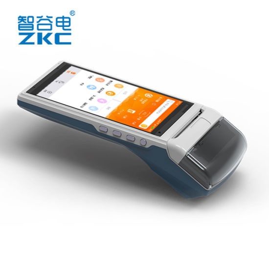 Zkc 5501 Android Handheld Payment Terminal POS Terminal with Thermal Printer Brcode Scanner pictures & photos