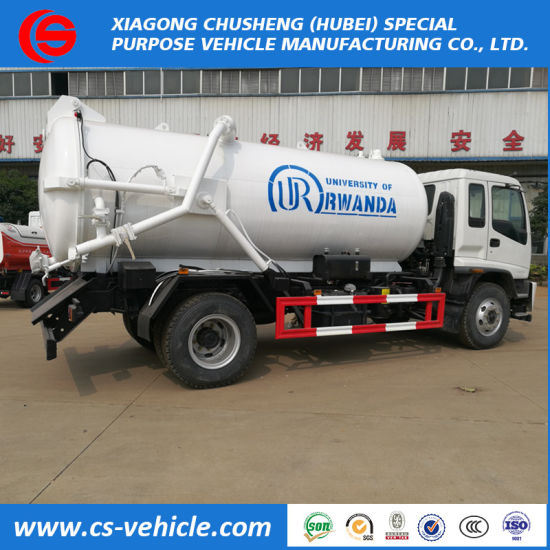 Used Waste Collection Truck 10000L Sewage Suction Tanker Trucks for Sale
