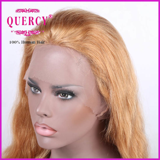 Long Blond Color Brazilian Front Lace Wig Straight Hair Wig pictures & photos