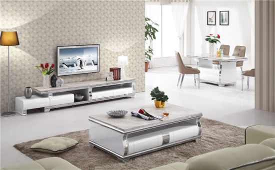 High Glossy Painted Glass TV Stand (DS-2016#) pictures & photos