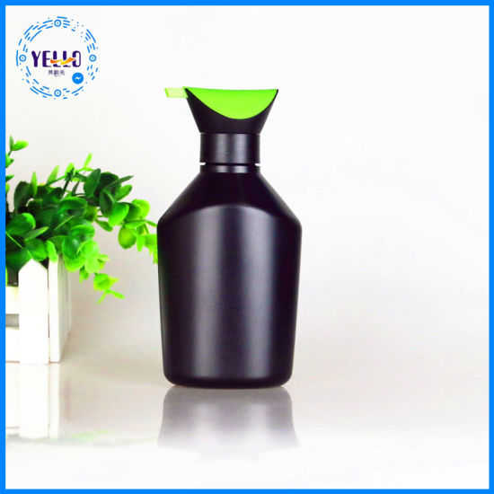 New Style Factory Directly Provide Black Plastic Shampoo Bottles