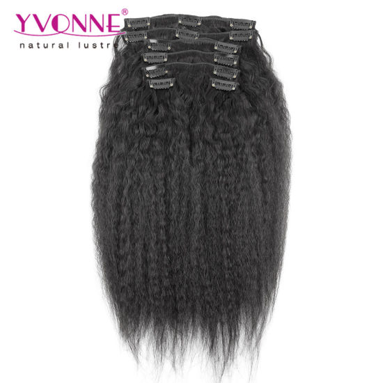 100% Human Hair Brazilian Clip in Hair Extension pictures & photos