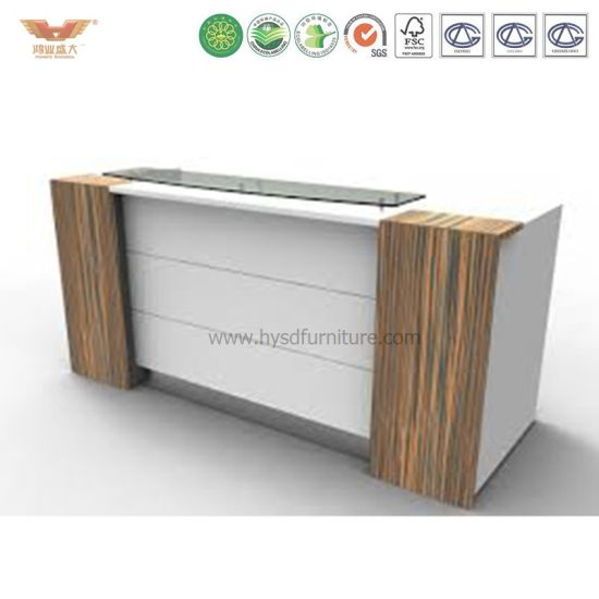 Whole Standard Size Luxury Beauty Small White Black Curved Office Salon Reception Desk