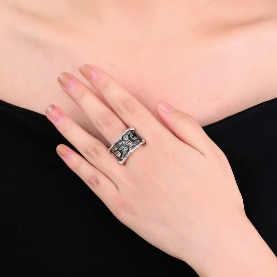 Antique Silver Plated Band Jewelry Ring pictures & photos