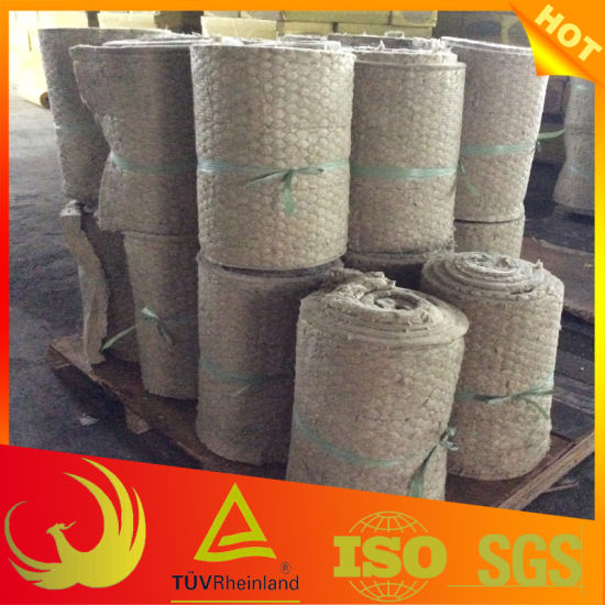 Stone Mineral Wool Insulation Blanket Material Wire Mesh pictures & photos