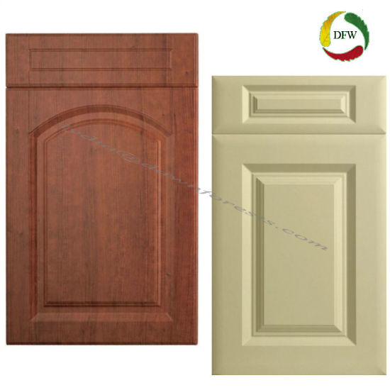 China Pvc Film Mdf Kitchen Cabinet Parts Shaker Style Cupboard Door
