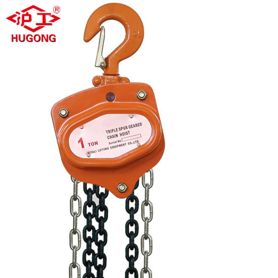 China Manufacturer Chain Hoist with Hand Pulling Chain Block Price