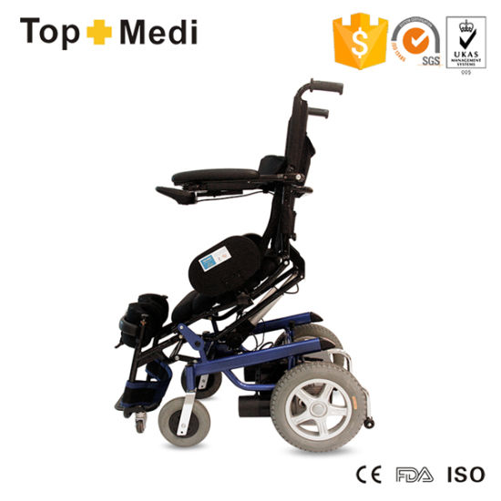 High Back Standing up Electric Power Pg Controller Wheelchair pictures & photos