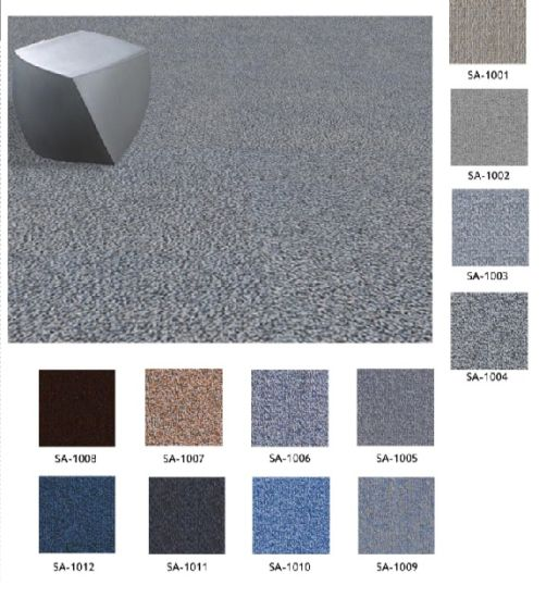 China Nylon 66 Fire Proof Carpet Tiles With Pvc Backing