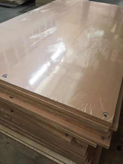 China Melamine Paper Laminated Plywood For Kitchen Cabinet Furniture
