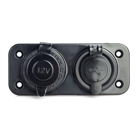 Dual USB Car Cigarette Lighter Socket Splitter 12V Charger Power Adapter Outlet