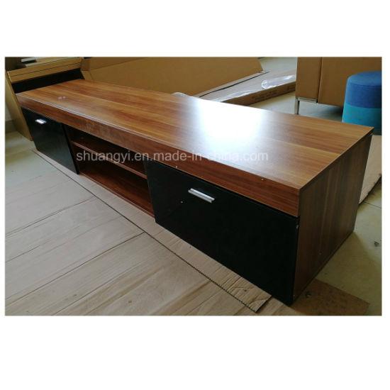 China New Model Tv Stand Wooden Furniture Tv Showcase China Tv