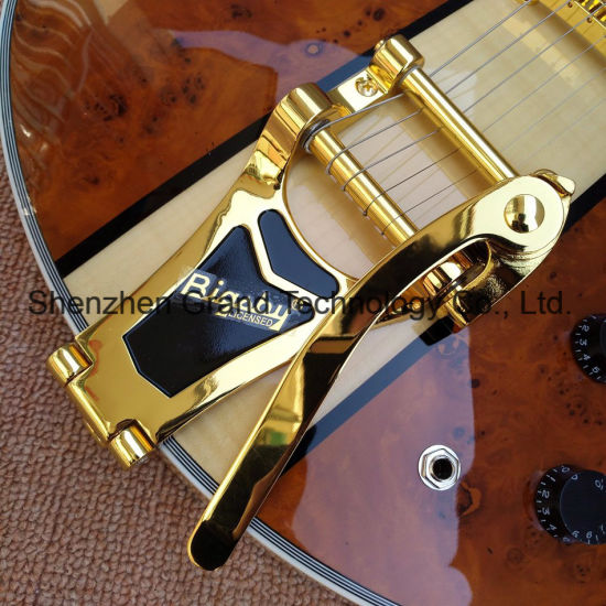 Maple Top Es335 Hollow Body Archtop Jazz Guitar (TJ-244) pictures & photos