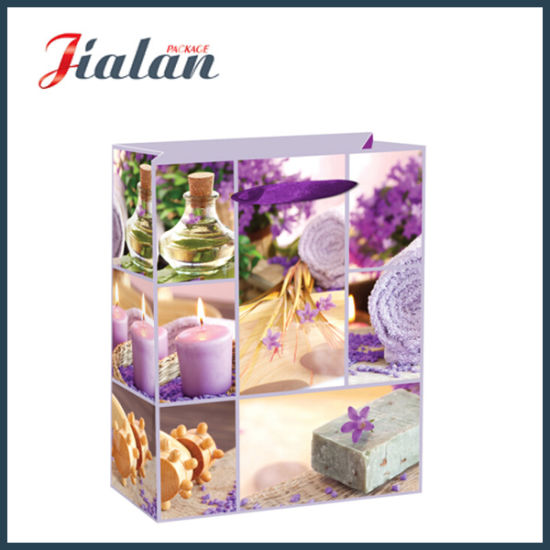 BSCI Luxury Ivory Paper Beatiful Candles Shopping Gift Paper Bag