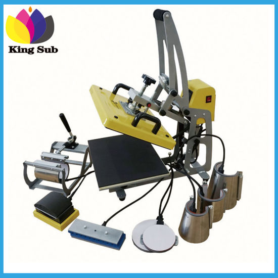 Auto Combo 9 in 1 Multi Sublimation Mug Heat Transfer Press Machine Tshirt Printing Machine