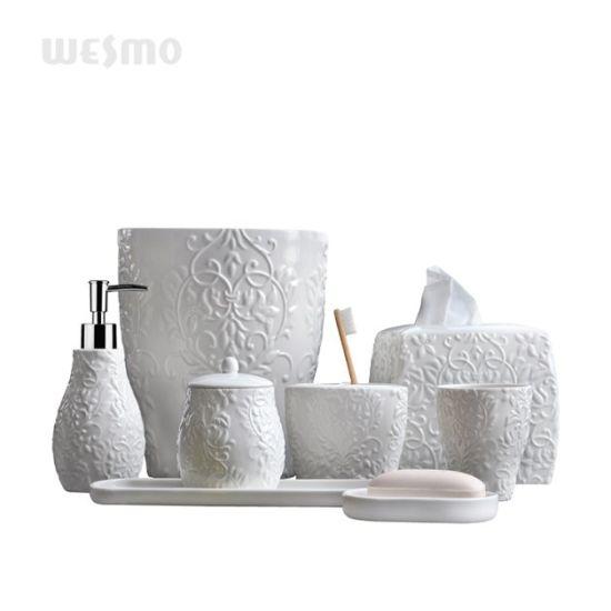 China Elegant Carved Fl Bathroom, Flower Bathroom Sets