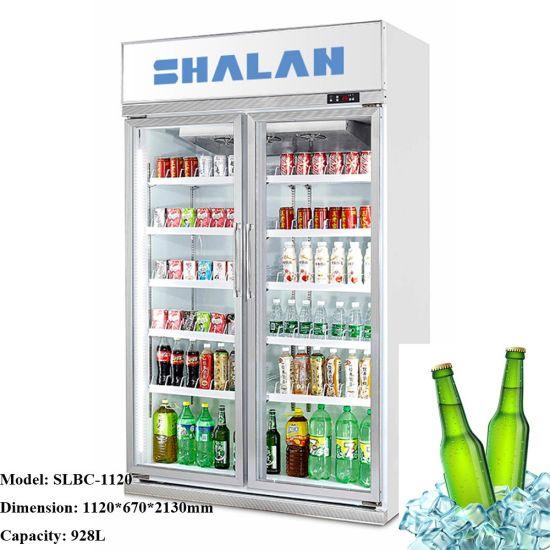 Wholesale Price Upright Glass Door Cooler Display Refrigerator Showcase