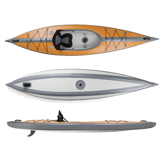 Fast Delivery Full Drop Stitch Inflatable Tandem Fishing Kayak Canoe