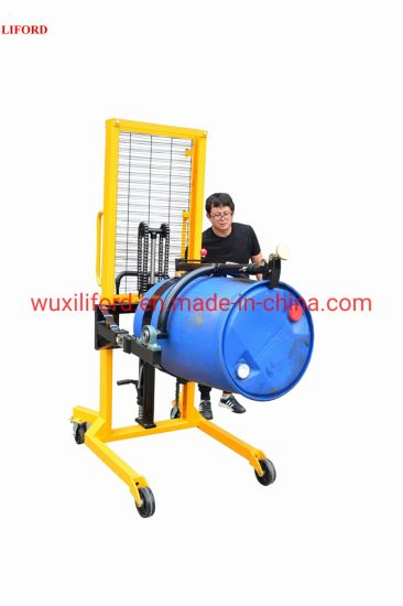 China Supplier 450kg Da450-1 Hand Drum Rotating Lifter with Weighing Scale