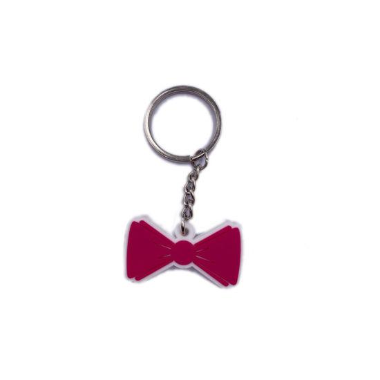 Custom Soft Silicone PVC Bowknot Keychain