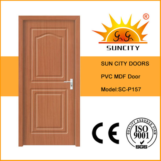 PVC Glass Sliding Plastic Interior Folding Accordion Timber Door Panel