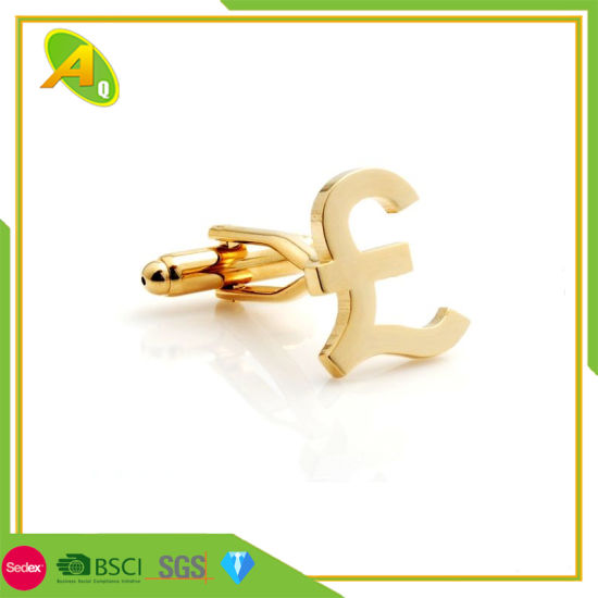 Gold Soft Enamel Cuff Link Silver (024)