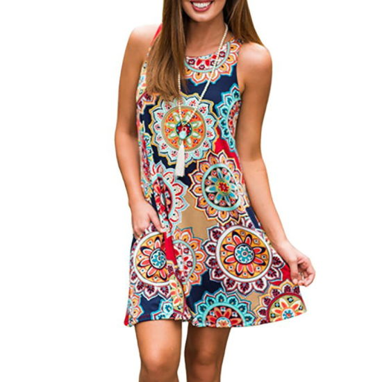 Beauty Female Sleeveless Retro Wear Cheap Dress pictures & photos