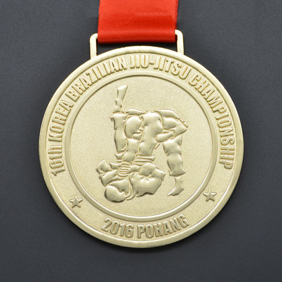 Round or Customised Jiu-Jitsu Medals Gold/ Silver Metal Medals for Souvenir