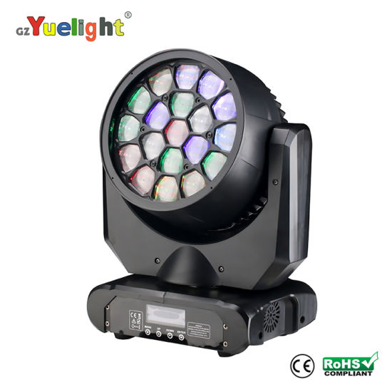 19*15W RGBW Beam DJ Disco Stage Light LED Moving Head