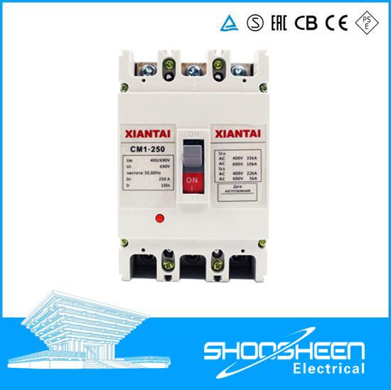 China Delixi Cm1 Series 3p 100 AMP 3 Phase MCCB 3 Pole MCCB