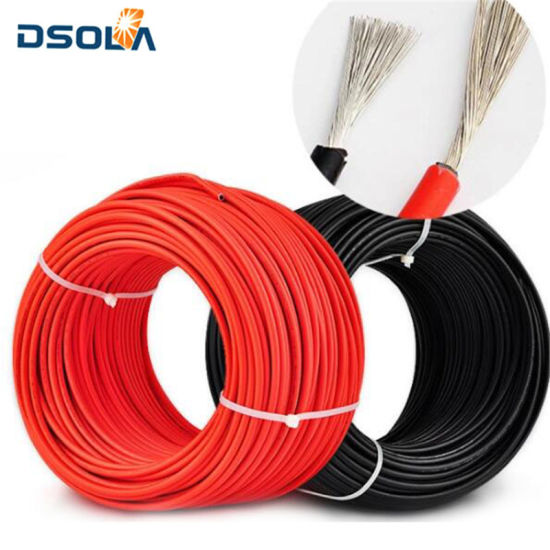 China Dsola Amazon Hot Sale Red or Black Color Solar Cable