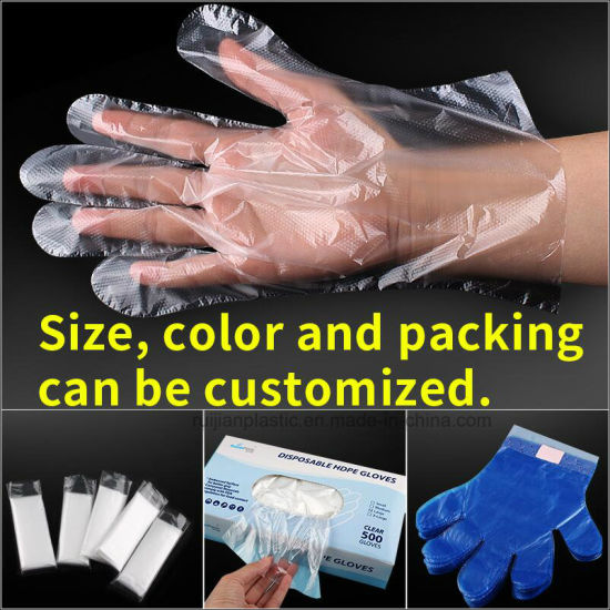 Hot Sale Factory Price Food Grade PE Plastic Disposable Glove