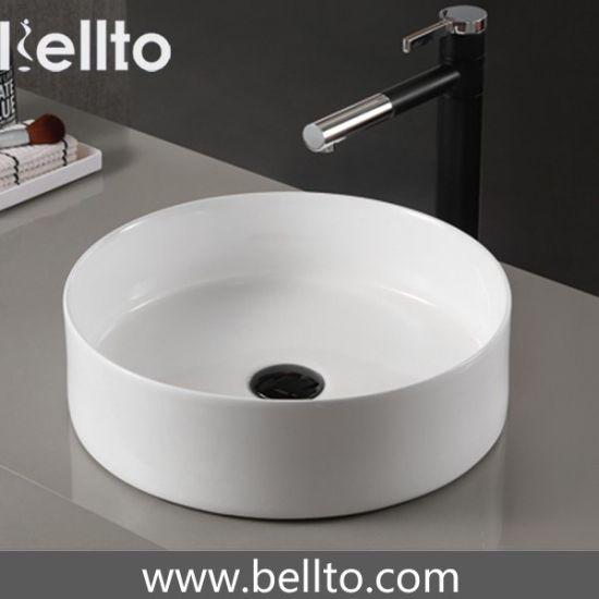 40 Round Bathroom Porcelain Vessel Vanity Sink Art Basin Slim Ceamic Wash Basin 3091 China Round Bathroom Basin Bathrooms Basins Made In China Com