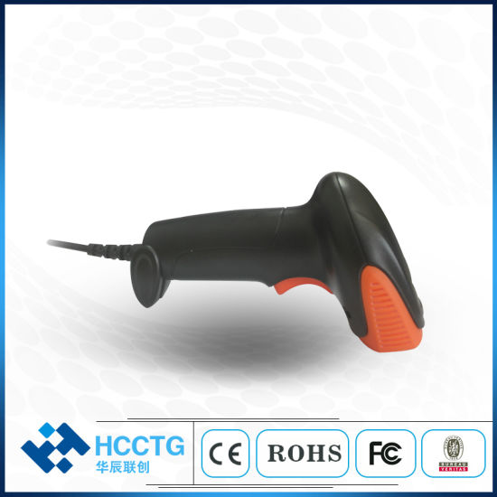 RS232/USB 2D Wired Barcode Scanner for Supermarket/Retail POS (HS-6602)