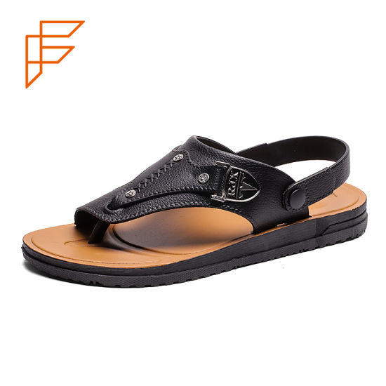 China Topsion Popular Shoes Mens Wholesale 2019 Rubber Sandals For