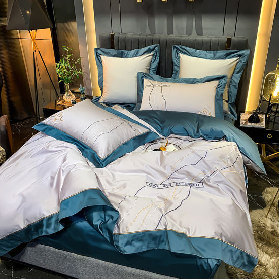 Luxury 300 Thread Count Customized Quilt and Pillow Set for Hotel