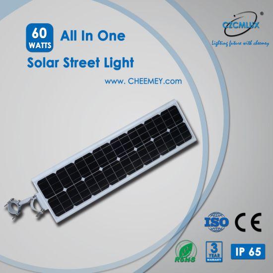 60W High Lumen Epistar LED Solar Street Light All in One