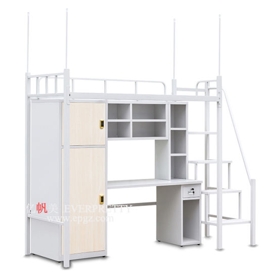 China Metal Bunk Bed With Computer Desk, Student Loft Bed With Desk