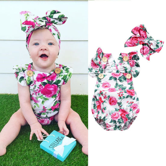 Children's Clothing Newborn Fashion Clothes Flower Baby Clothes