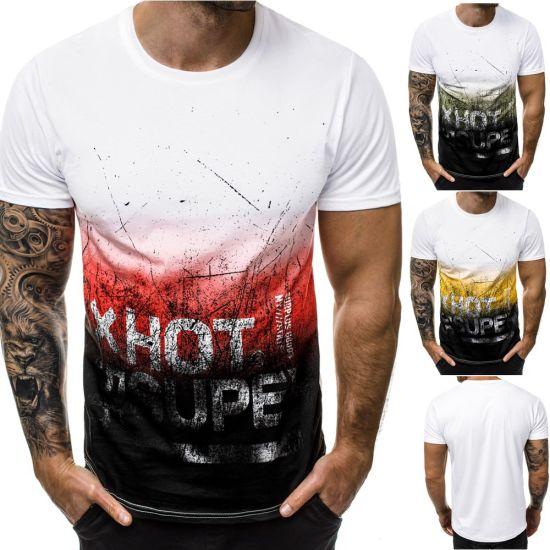 Men's Short Sleeve Printed T-Shirt Casual Sport T-Shirt Fashion Clothing