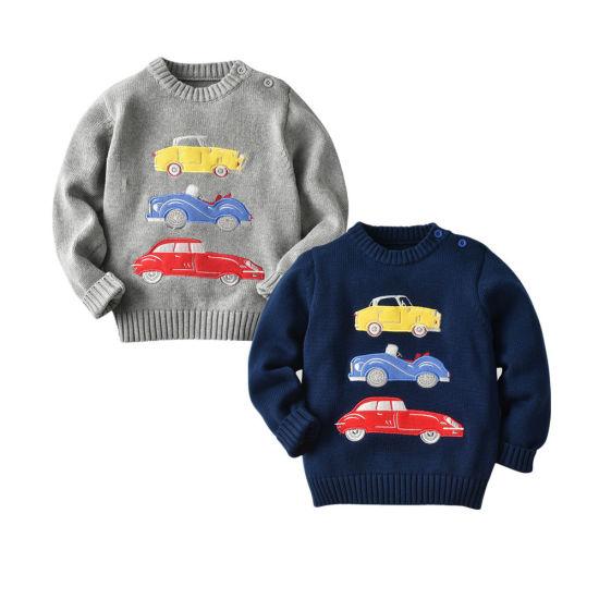 Boy's Apparel Car Series Car Pattern Pullover Knitwear