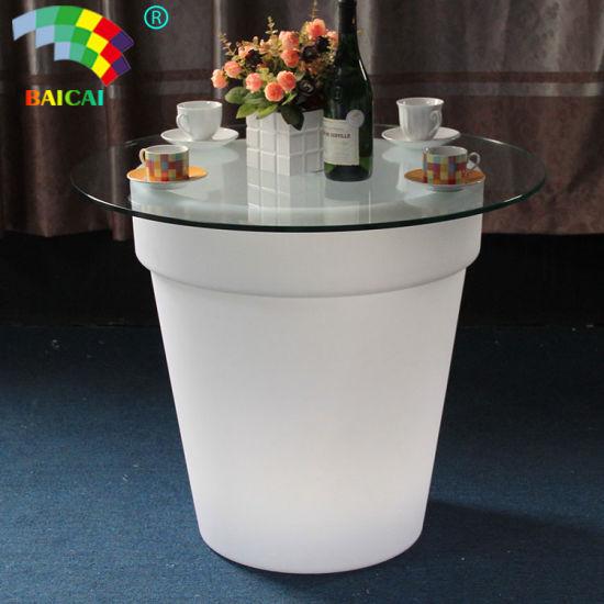 LED Illuminating Floor Planter Flower Pot for Modern Office Garden Decoration