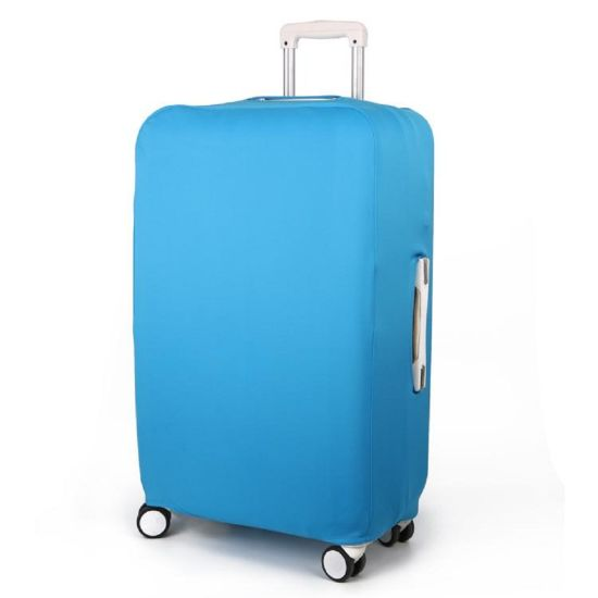 Travelsky Custom Elastic Polyester Suitcase Cover Protective Luggage Case Cover