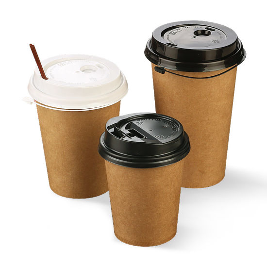 8oz Double Wall Kraft Paper Cup for Coffee Milk Tea Hot Drinking