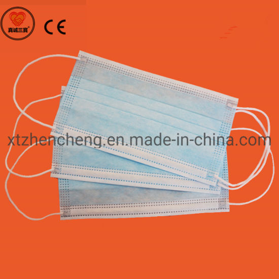 Hot Sale Disposable 3ply Non Woven Safety Protection Dust Breathable Earloop Face Dust Mask