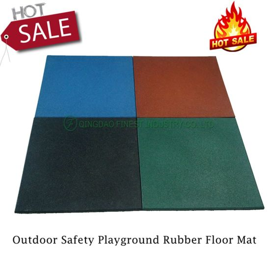 China Factory Manufacturer Outdoor Safety School Playground Rubber Tile Rubber Floor Mat for Children Kids Playground Areas Play Equipment