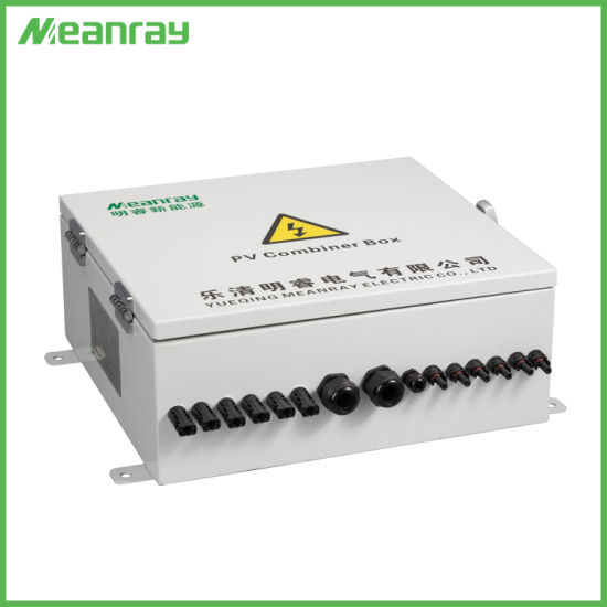 Solar System DC PV Combiner Box 6 Strings Input 1 Output IP65 Ccombiner Box with SPD and Fuse