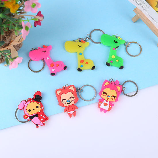 Custom 3D Soft PVC Rubber Keychain/Soft Rubber Keychains/Silicone Keychain