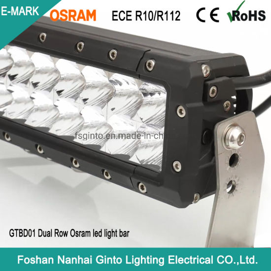 Waterproof Emark 12V/24V Dual Row 120W 22inch LED Light Bar for Offroad 4X4 Car Truck (GT-BD01-40L)