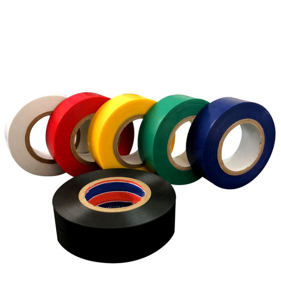 Insulating 19mm x 20m Flame Retardant Black Electrical PVC Insulation Tape